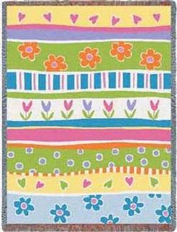 Garden Stripe Tapestry Throw