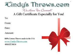 A Custom Gift Certificate Especially for You!