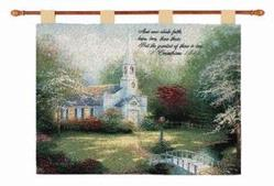 Hometown Chapel, I Corinthians 13:13 Tapestry Wall Hanging