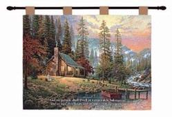 A Peaceful Retreat Isaiah 32:18 Tapestry Wall Hanging