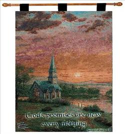 Sunrise Chapel, Lamentations 3:23 Tapestry Wall Hanging