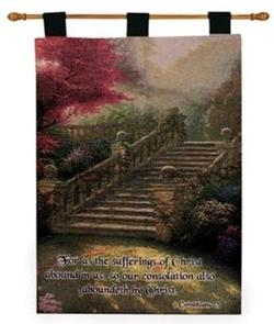 Stairway to Paradise 2 Corinthians 1:5 Tapestry Wall Hanging