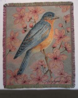Bluebird Tapestry Throw