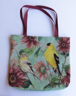 Yellow Finches Tapestry Tote