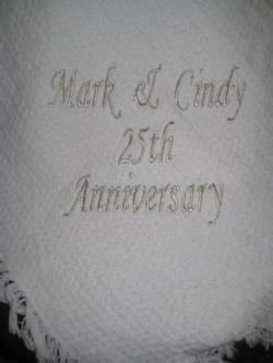 25th Anniversary Solid White Throw Blanket