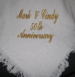 50th Anniversary Solid White Throw Blanket