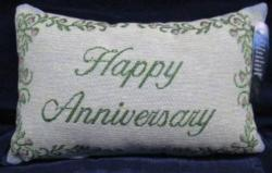 Happy Anniversary Tapestry Word Pillow