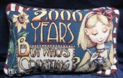 SALE 2000 Years Message Pillow Talk