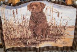SALE Chocolate Lab Tapestry Throw