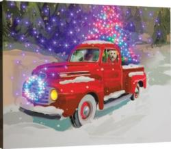 Holiday Drive Remote Control Fiber Optic Canvas Art