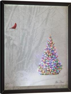 Memories of Christmas Past Remote Control Fiber Optic Canvas Art