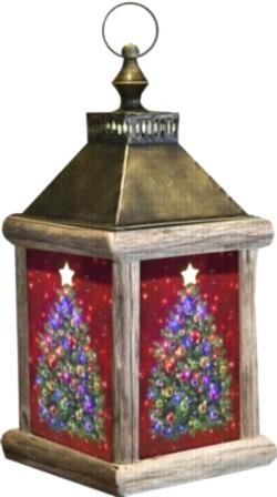 O' Christmas Tree Fiber Optic Lantern
