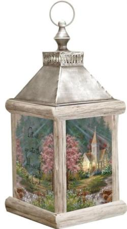 House Of The Lord, Psalm 122:1 Fiber Optic Lantern