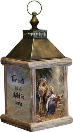 Holy Night, Isaiah 9:6 Fiber Optic Lantern