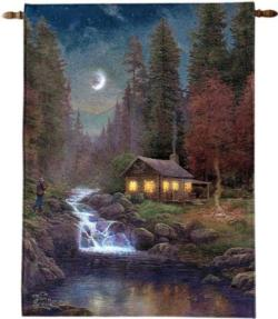Away From It All Fiber Optic Tapestry Wall Hanging