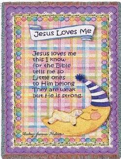 Jesus Loves Me - Girl Tapestry Throw