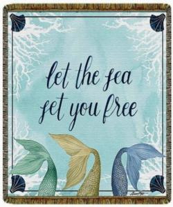 Let The Sea Tapestry Throw