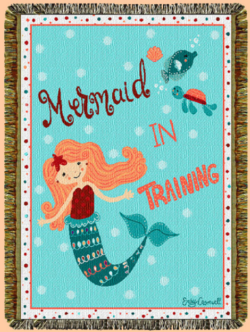 Mermaid In Training Tapestry Throw