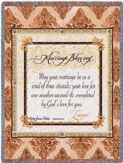 Marriage Blessing Tapestry Throws