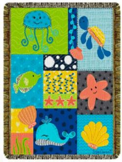 NEW Ocean Babies Tapestry Throw