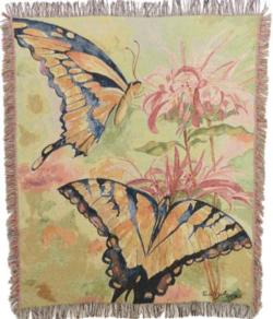 Butterfly in Flight Tapestry Throw