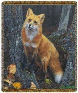 Resounding Red Fox Tapestry Throw