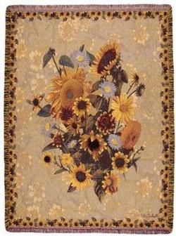 Sunflower Meadow Tapestry Throw