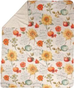 Autumn In Bloom Sherpa Fleece Blanket