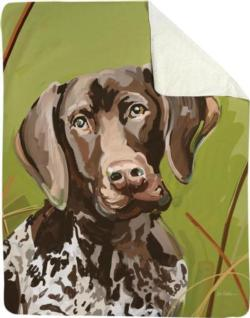 Baxter the German Shorthair Sherpa Fleece Blanket