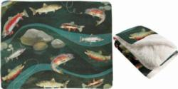 NEW Gone Fishing Sherpa Fleece Blanket