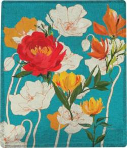 Peony and Poppies Poly Throw