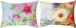 NEW Nature's Grace Hummingbird Petunias Reversible CLIMAWEAVE Pillows