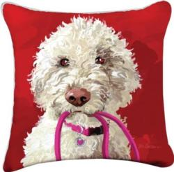 Abby the Doodle Throw Pillow