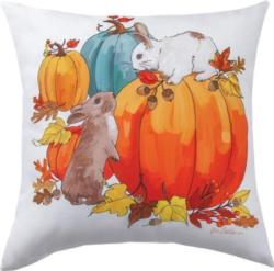 Bunnies & Pumpkins CLIMAWEAVE Pillows