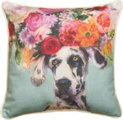 Dogs In Bloom Great Dane Dog Pillow