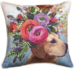 Dogs In Bloom Lab Dog Pillow
