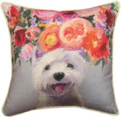 Dogs In Bloom Westie Dog Pillow