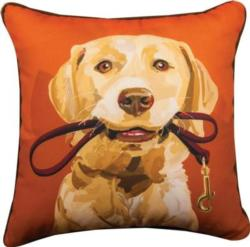 Goldie the Yellow Lab Throw Pillow