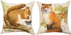 Harvest Friends Squirrel Reversible CLIMAWEAVE Pillows