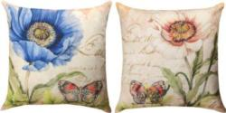 NEW Harlequin Poppy Blue & White Reversible CLIMAWEAVE Pillows