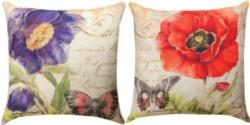 NEW Harlequin Poppy Red & Purple Reversible CLIMAWEAVE Pillows