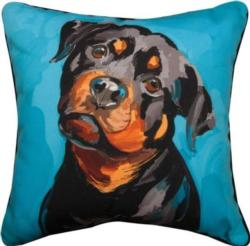 Maggie the Rottweiler Throw Pillow