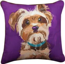 Bandit the Yorkshire Terrier Throw Pillow