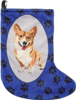 Biscuit the Corgi Christmas Stocking