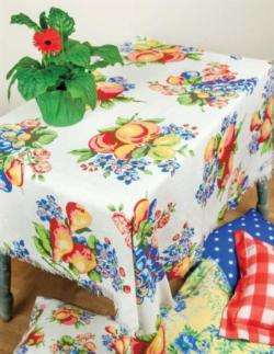 Fruit Basket Poly Table Topper Throw