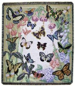 Butterflies Are Free Tapestry Throw