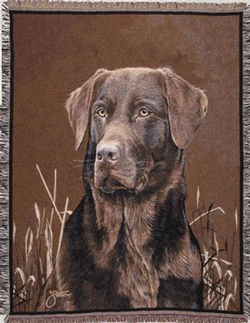 Chocolate Lab Tapestry Throw