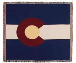 Colorado State Flag Tapestry Throw