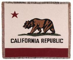 California State Flag Tapestry Throw