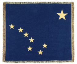 Alaska State Flag Tapestry Throw